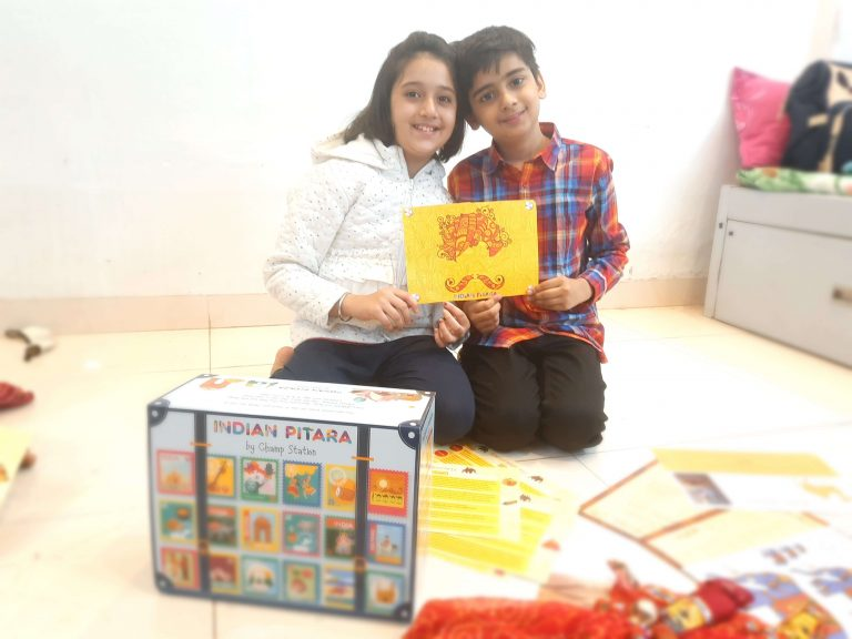 Children playing with the Rajasthan Boz from champstation