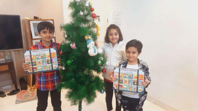 Kids enjoying with Indian Pitara box